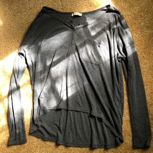 Abercrombie & Fitch Long Sleeve Top with Buttons